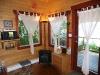 Cabin 1 fireplace corner